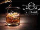 Birthday Ideas for Husband 41 1959 60th Birthday Gifts for Women and Men Whiskey Glass