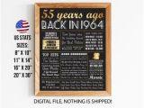 Birthday Ideas for Male 55 55th Birthday Etsy