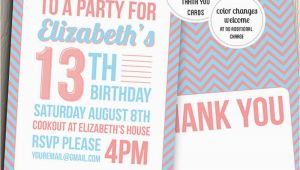 Birthday Invitation Cards for Teenagers 21 Teen Birthday Invitations Inspire Design Cards