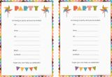 Birthday Invitation Cards Printable Blank Birthday Invitations for Boys Doyadoyasamos Com