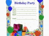 Birthday Invitation Cards Templates Kids Birthday Card Template Resume Builder
