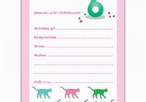 Birthday Invitation For 10 Years Old Girl Childrens Party Invitations 6