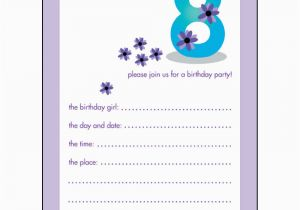 Birthday Invitation For 10 Years Old Girl 40th Ideas Year Templates