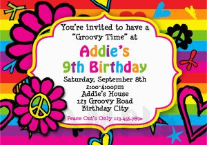 Birthday Invitation For 10 Years Old Girl Free Year Girls