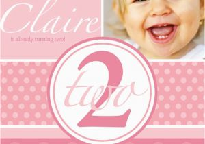 Birthday Invitation For 2 Year Girl Old Party Wording