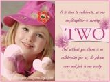 Birthday Invitation for 2 Year Girl 2nd Birthday Invitations and Wording 365greetings Com