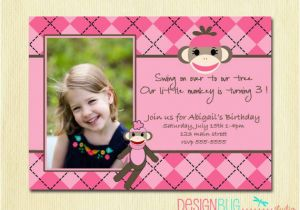 Birthday Invitation For 2 Year Girl 3 Years Old Invitations Wording Free