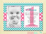 Birthday Invitation for 2 Year Girl Chevron and Polka Dots Girl 39 S Birthday Invitation 1 2