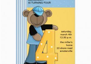 Birthday Invitation For 4 Year Old Boy Years Invitations Wording Drevio