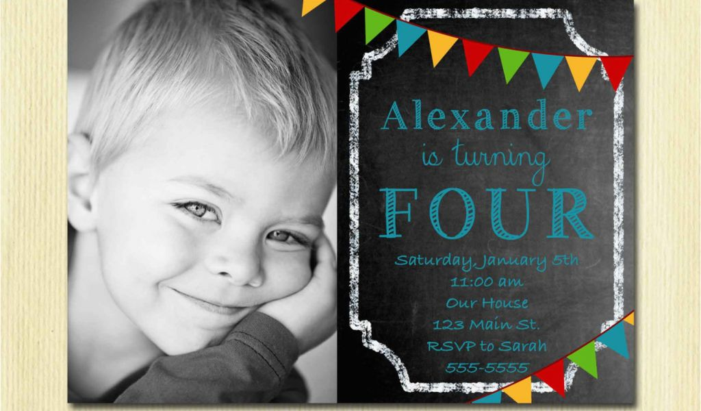 Download By SizeHandphone Tablet Desktop Original Size Back To Birthday Invitation For 4 Year Old Boy