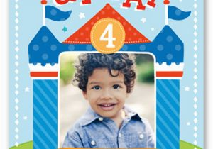 Birthday Invitation For 4 Year Old Boy Bounce House Fun 6x8 Invitations Shutterfly