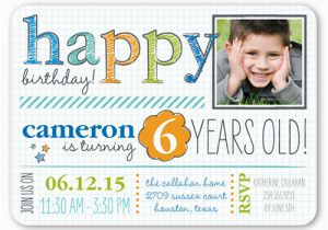 Birthday Invitation For 4 Year Old Boy Years