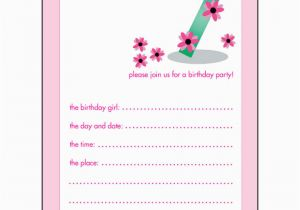 Birthday Invitation For 7 Years Old Boy 10 Childrens Party Invitations Girl
