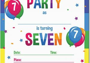 Birthday Invitation For 7 Years Old Boy Year Invitations 5