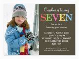 Birthday Invitation for 7 Years Old Boy 7th Birthday Party Invitation Wording Free Invitation