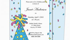 Birthday Invitation Letter for Kids Birthday Party Invitation Sample Birthday Party Invitation