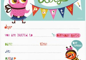 Birthday Invitation Maker Free Online Kids Birthday Invite Template Birthday Invitation Maker