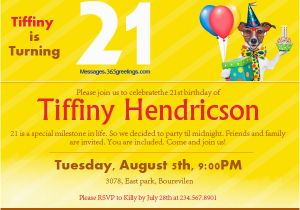 Birthday Invitation Message For Friends 21st Invitations 365greetings Com