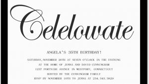 Birthday Invitation Messages For Adults