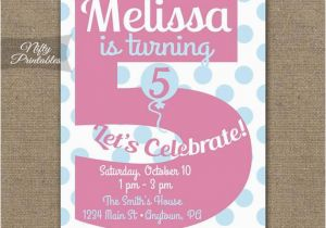Birthday Invitation Quotes For 5th Invitations Printable Fifth
