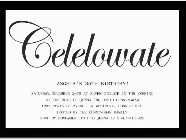 Birthday Invitation Quotes For Adults 10 Invite Wording