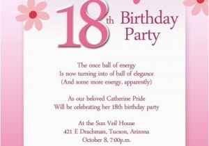 Birthday Invitation Websites Letter 18th Sample Letters Free