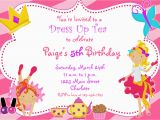 Birthday Invitation with Dress Code Dress Up Party Invitations Oxsvitation Com