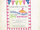 Birthday Invitation with Dress Code Free Printable Carnival Birthday Party Invitations Free