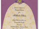 Birthday Invitation with Dress Code Green Purple Diecut Dress On Shimmery Purple Invitations