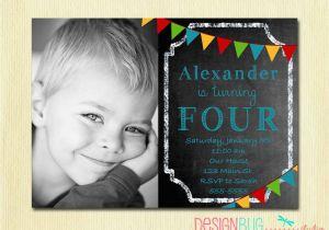 Birthday Invitation Wording For 3 Year Old Boy Boys Chalkboard 1 2 4