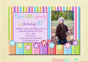 Birthday Invitation Wording For 5 Year Old Boy Girls Lollipop Party Diy Printable