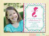 Birthday Invitation Wording for 5 Year Old Mermaid Birthday Invitation 1 2 3 4 5 Year Old Any Age