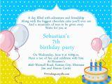 Birthday Invitation Wording for 7 Year Old Boy Birthday Card Sample Hunecompany Com