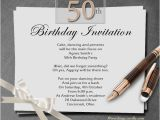 Birthday Invitation Write Up 50th Birthday Party Invitation orderecigsjuice Info