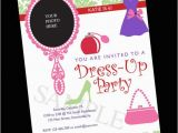 Birthday Invitation Write Up Dress Up Birthday Party Invite Digital File 5 X 7 Inches