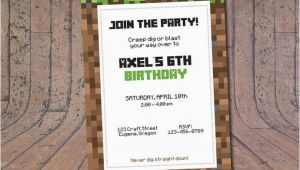 Birthday Invitations Fast Delivery 25 Best Ideas About Minecraft Birthday Invitations On