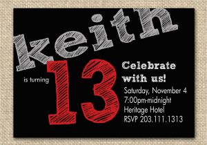 Birthday Invitations For 13 Year Old Boy 13th Party Invitation Ideas Bagvania Free