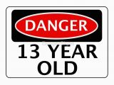 Birthday Invitations for 16 Year Old Boy Quot Danger 13 Year Old Fake Funny Birthday Safety Sign