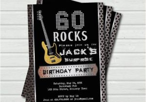 Birthday Invitations For 60 Year Old Man Surprise 60th Invitation Rock And Roll Music