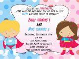 Birthday Invitations for Boy and Girl 30 Superhero Invitation Cards Super Heroes Girl Boy