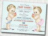 Birthday Invitations for Boy and Girl Boy Girl Twins First Birthday Invitation for Twins Boy and