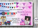 Birthday Invitations for Boy and Girl Joint Birthday Invitation for Boy and Girl by Simply