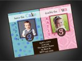 Birthday Invitations for Boy and Girl Joint Party Girl Boy Birthday Invitation