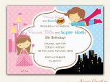 Birthday Invitations for Boy and Girl Princess and Superhero Birthday Invitation Printable Diy