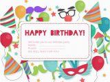 Birthday Invitations Free Download Birthday Invitation Card Vector Free Download