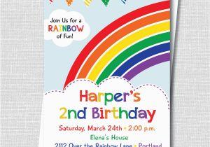Birthday Invitations Free Shipping Colorful Rainbow Party Invitation