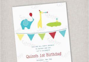 Birthday Invitations Free Shipping Party Animals Invitation Digital File Or