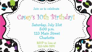 Birthday Invitations Free Templates Girl Birthday Invitations Template Best Template Collection
