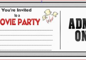 Birthday Invitations Movie Theme Ticket Ideas Bagvania Free