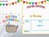 Birthday Invitations Templates Free Printable Free Printable Pusheen Birthday Invitation Template Free